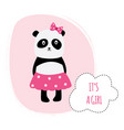 girl baby shower or birthday card panda cartoon