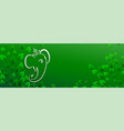 green eco lord ganesha banner with text space vector image vector image