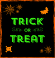 Halloween icons and Trick or Treat text vector image vector image