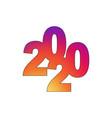 happy new year 2020 text design logo vector image vector image