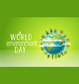 happy world environment day card concept vector image