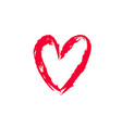 heart hand drawn 1 vector image vector image
