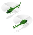 Helicopters fly air transportation and sky rotor vector image