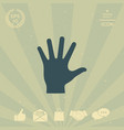 helping hand silhouette- icon vector image vector image