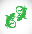 image of an chameleon vector image vector image