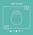 kettlebell line icon vector image vector image