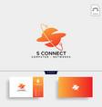 letter s digital globe network logo template icon vector image vector image