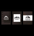 logo mountains patrol and tourism vector image vector image