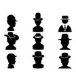 man with hat icon vector image vector image