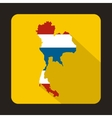 Map of Thailand in Thai flag colors icon vector image vector image