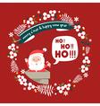 merry christmas greeting cardsanta hohoho vector image