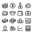 Money ios 7 icon set vector image vector image