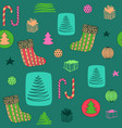 new year colorful seamless pattern with christmas vector image