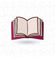 open book and literature design vector image