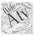 operating an atv safely word cloud concept vector image vector image