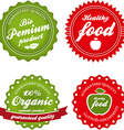 organic labels collection vector image vector image
