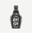 original dry gin abstract vintage hand drawn vector image