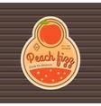 Peach fizz retro fruit label vector image