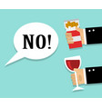 refusal cigarettes and alcohol vector image vector image