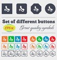 retro telephone handset icon sign Big set of vector image