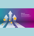 return on investment roi profit opportunity vector image