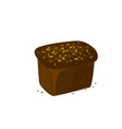 rye dark bread icon vector image vector image