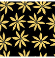 seamless floral pattern with yellow flowers on vector image vector image
