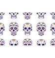 seamless pattern of colorful sugar skull vector image vector image