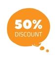 set of percent less speech bubble sale business vector image