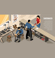 shoe work shop isometric vector image vector image