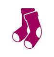 socks icon design template vector image