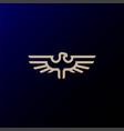 strong eagle hawk falcon line outline logo design vector image vector image