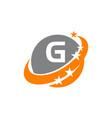swoosh star solution letter g vector image vector image