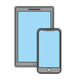 technology devices screen wireless template vector image
