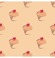 Tile hand drawn cupcake pattern vector image vector image