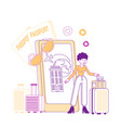 travel application technology in lifestyle woman vector image
