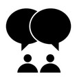 two people and dialogue solid icon communication vector image vector image