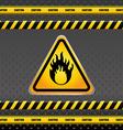 Warning sign design vector image vector image