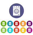 washer icons set color vector image vector image