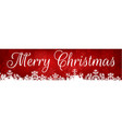 web banner for christmas vector image