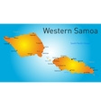 western samoa map vector image vector image