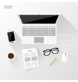 white workspace vector image vector image