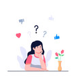 women are confused to choose concept flat vector image vector image