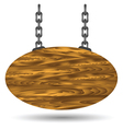 wood board and chain vector image vector image