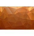 Yellow orange brown abstract background polygon vector image vector image