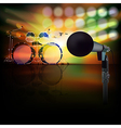 abstract jazz background with drum kit and vector image