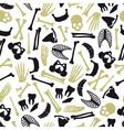 human bones symbols seamless pattern eps10 vector image