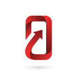 Mobile phone app logo icon design template vector image