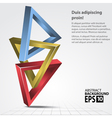 3D Shapes Triangles Abstract vector image