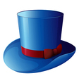 A blue hat with a red ribbon vector image vector image